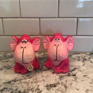 Other - Hot pink vintage salt and pepper shakers monkeys